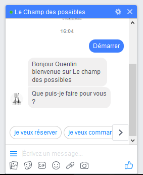 Bot de discution messenger pour facebook