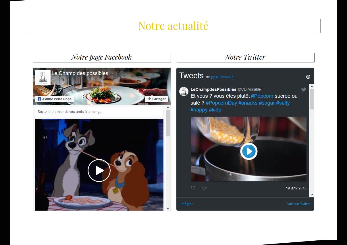 Site WordPress avec intégration réseaux sociaux
